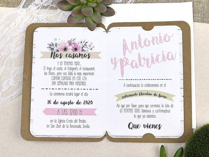 Invitación de boda 39606b