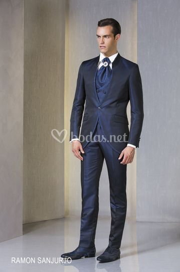Traje cuello mao slim fit
