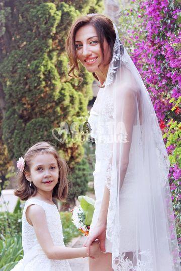 La novia y su damita