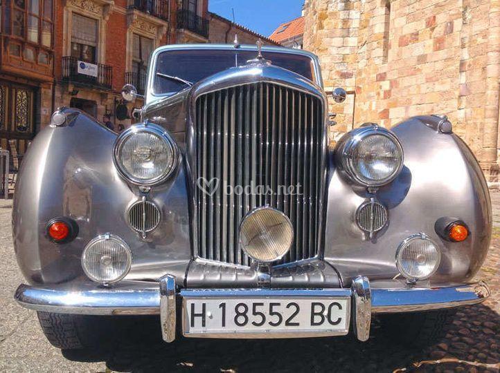 Bentley R Type en plata y azul
