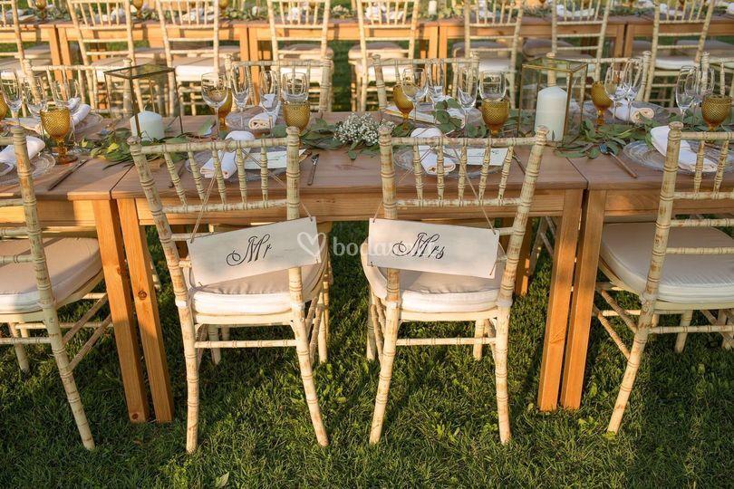 Carteles para sillas