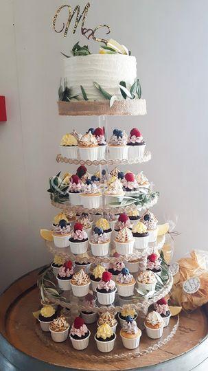 Tarta mini cupcakes