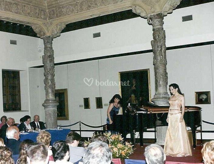 Concierto en el Patio de la Infanta presidido por Montserrat Caballé