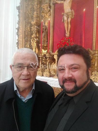 Con el gran Abel Moreno