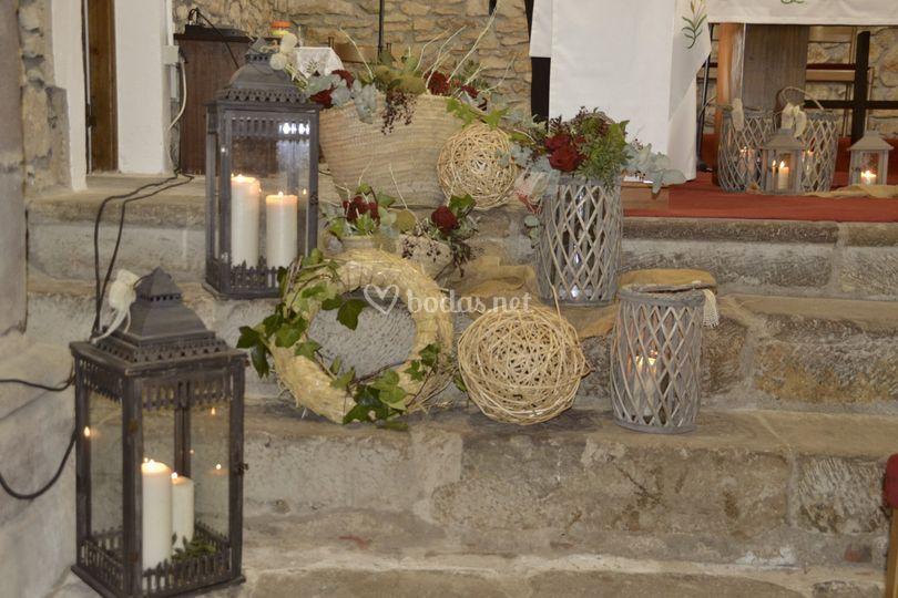 Altar rustico en ermita