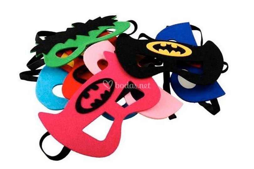 Máscaras superheroes photocall