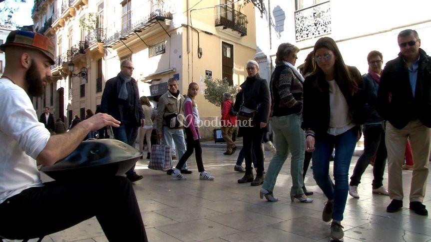 Tocando en la calle