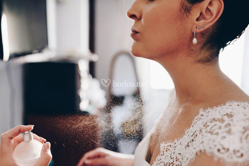 Momentos previos la boda