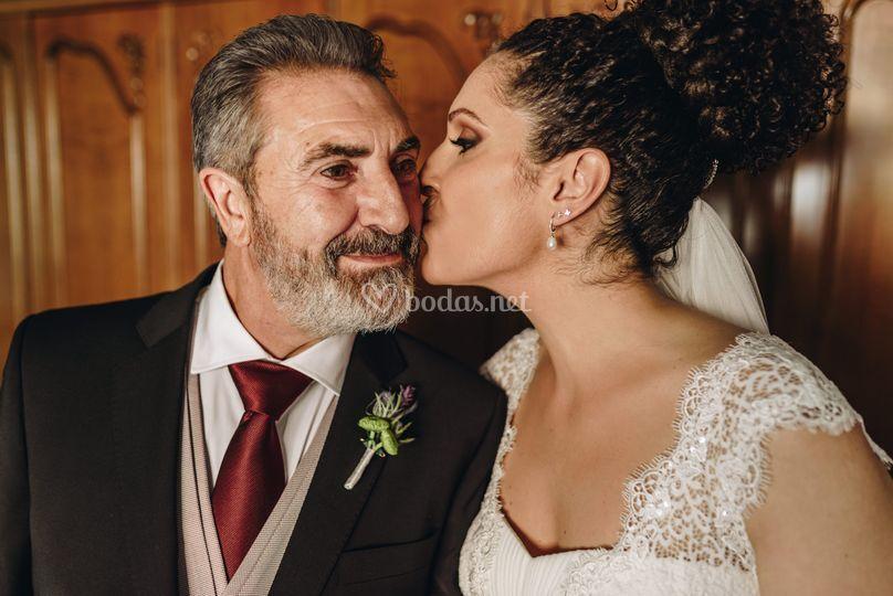Padre con la novia