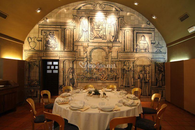 Mesa banquetes Restaurante El Dorado