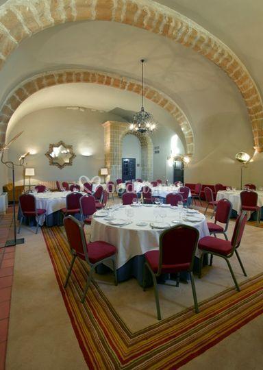 Montaje de banquete en Santa Clara
