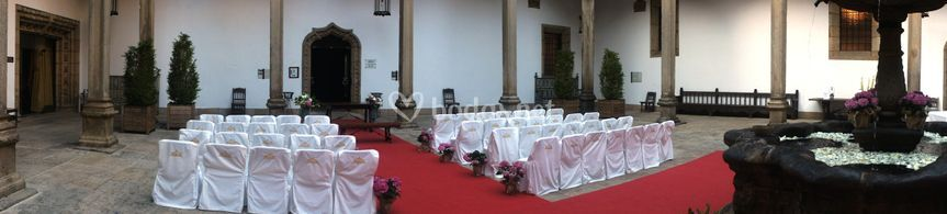 Boda civil Claustro