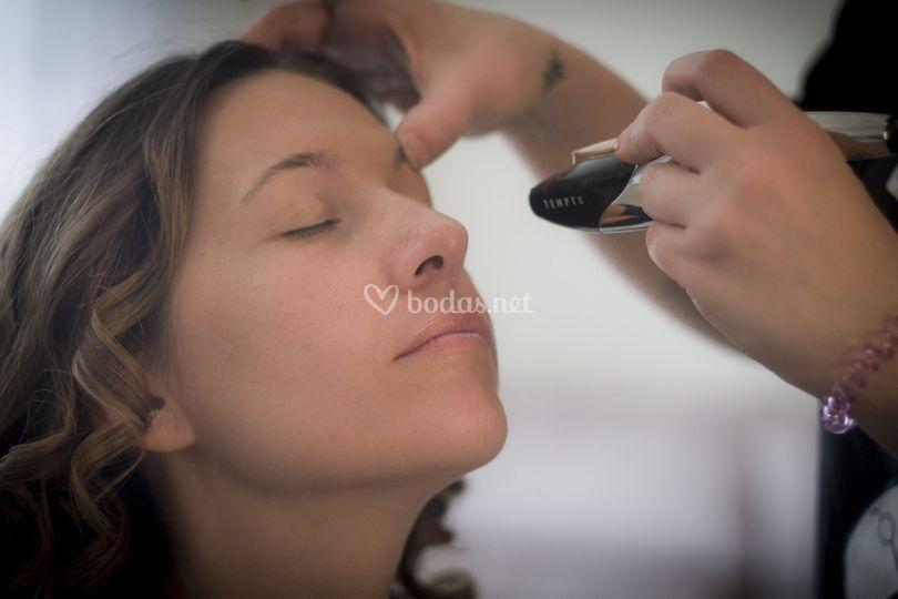 Maquillaje aerografo