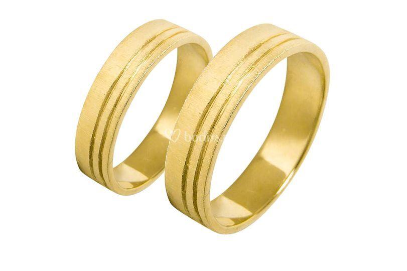 Alianzas de oro amarillo a1018a