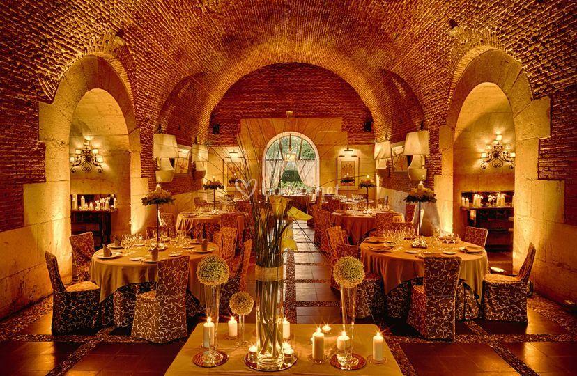 Interior del sal n de castillo de 1806 fotos for Restaurante jardin del principe en aranjuez