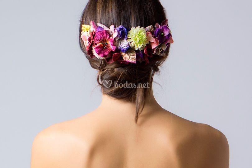 Prendidos de flores
