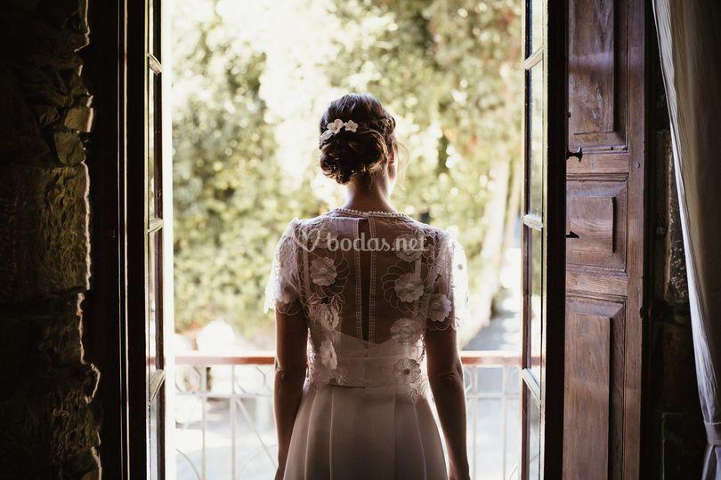 Tocado de novia de flores