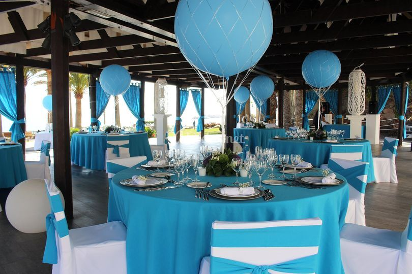 Mesas decoradas para banquete