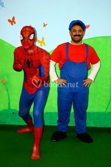 Spiderman y mario bross