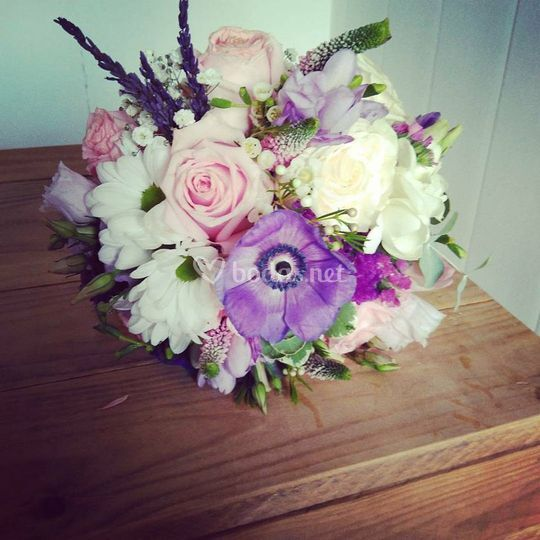 Ramo natural tonos lilas