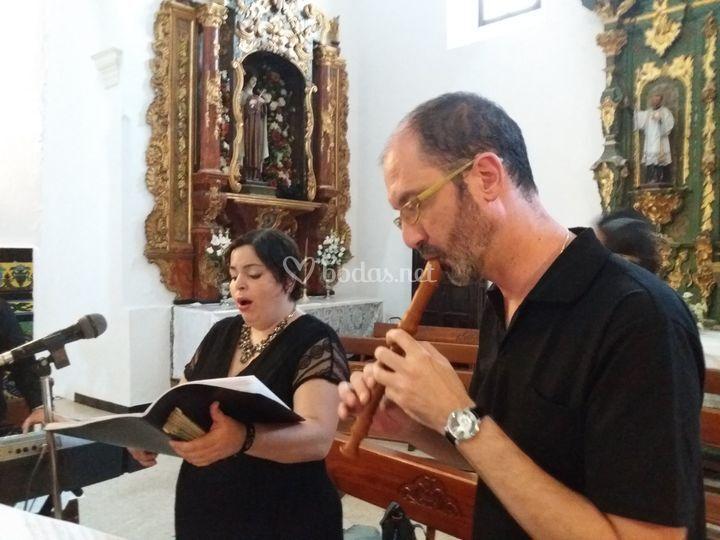 Soprano y flauta