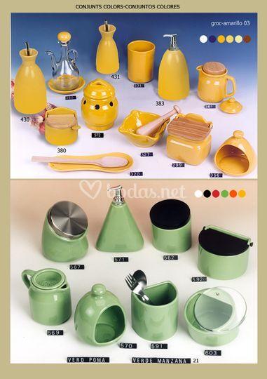 Modelos Amarillo y Verde Manzana