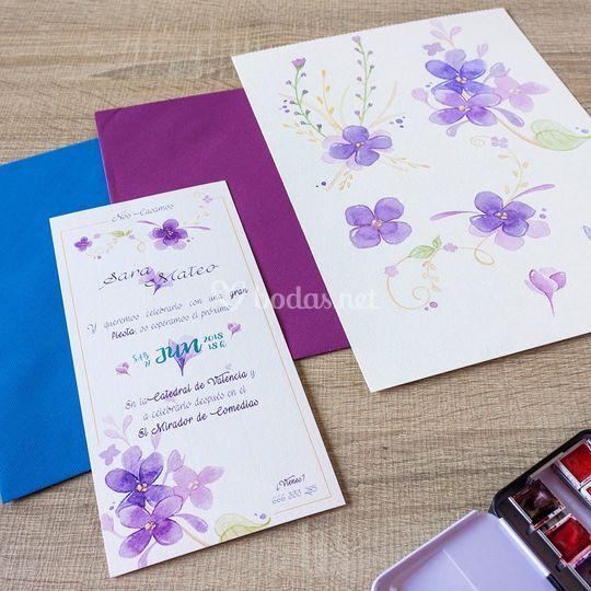Invitación Violetas