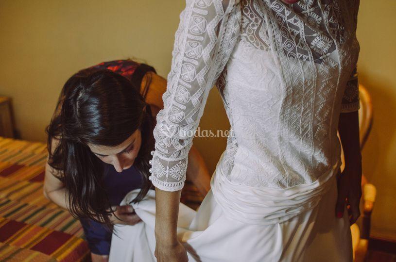 Preparación de la novia