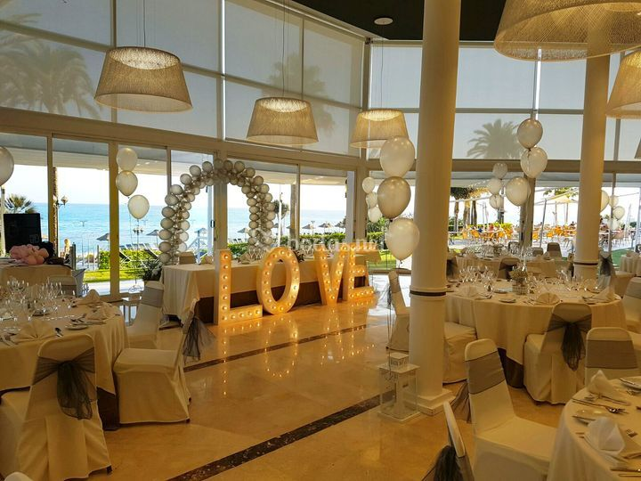 decoración boda iluminación de hotel estival torrequebrada | fotos