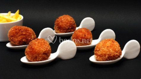 Croquetas de pollo al curry