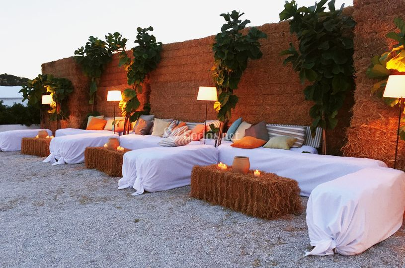 Zona chill out para boda