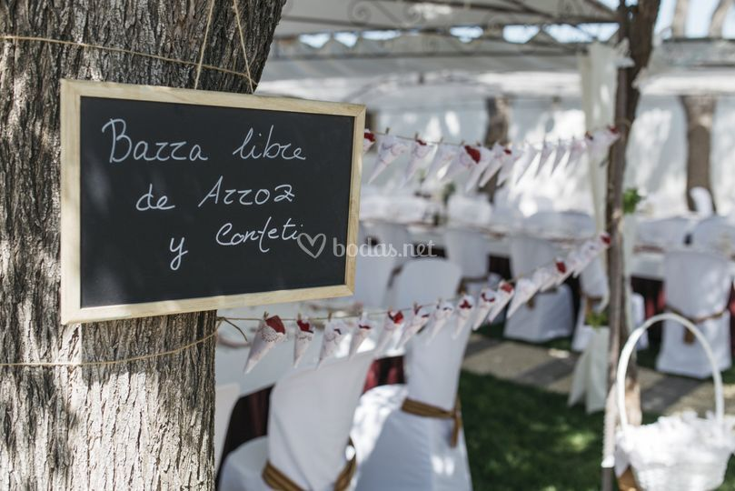 Detalles y decoración de boda