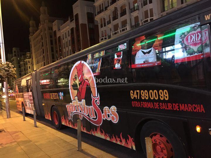 Partybus en Gran Vía