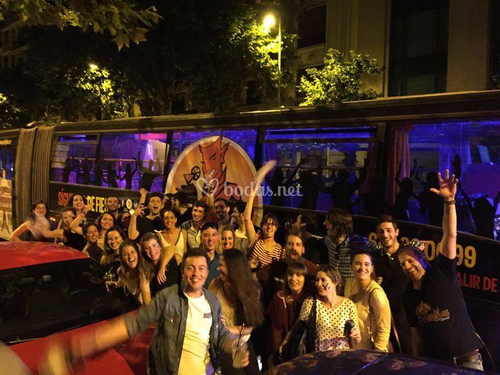 Fiesta en partybus