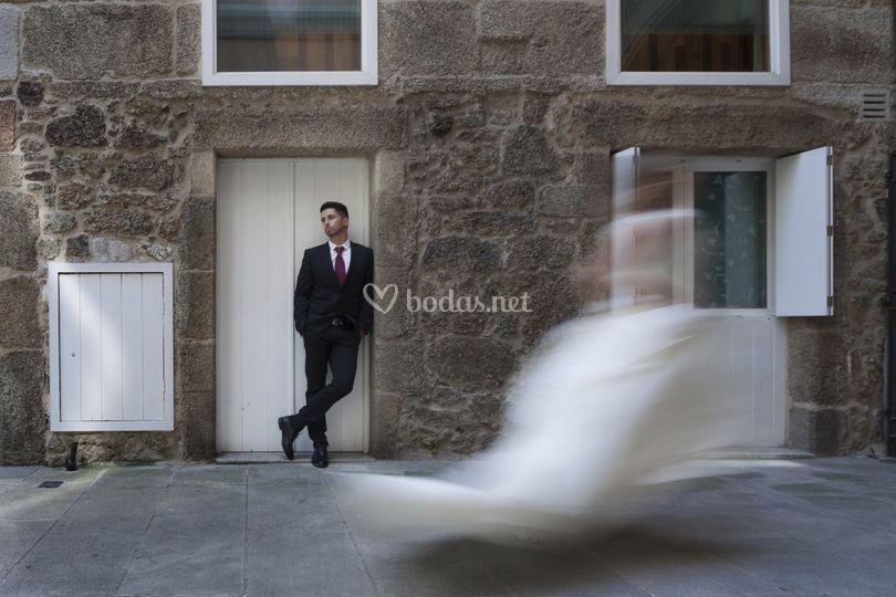 La novia pasando de largo