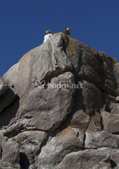 En lo alto de un acantilado