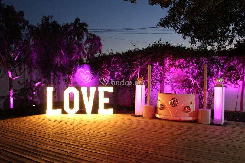 Love y cabina retro