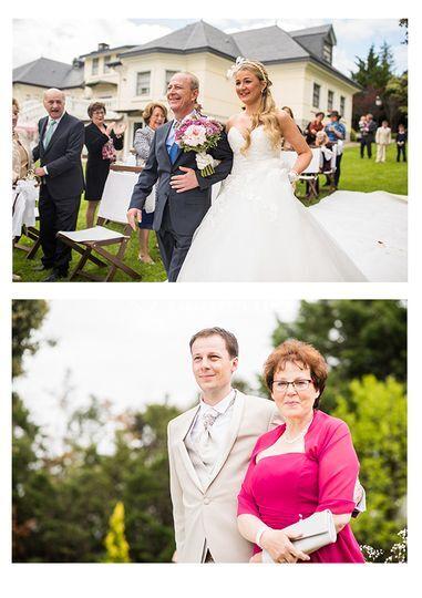 La novia llega