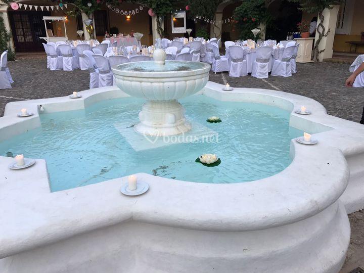 Fuente central del patio