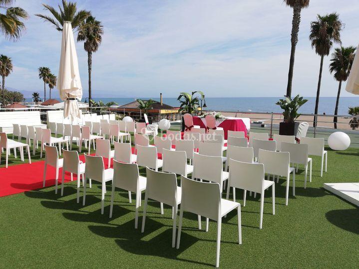 Terraza para bodas civiles
