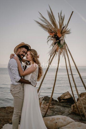 Ceremonia en el mar