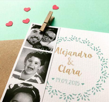 Invitación boda fotomatón