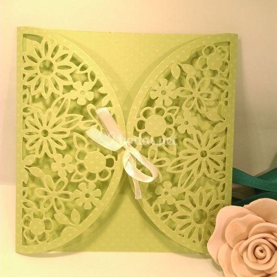 Tarjeta única verde