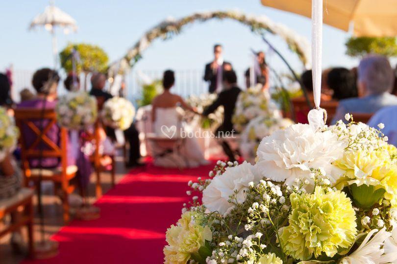 Arreglos florales para ceremonia