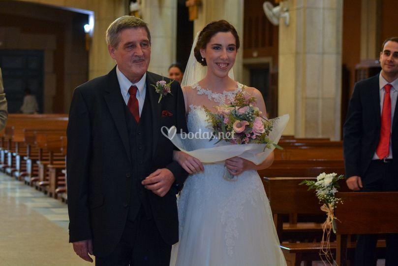 La novia y su padre.