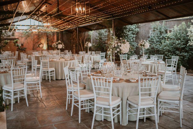 Banquete porche bohemio