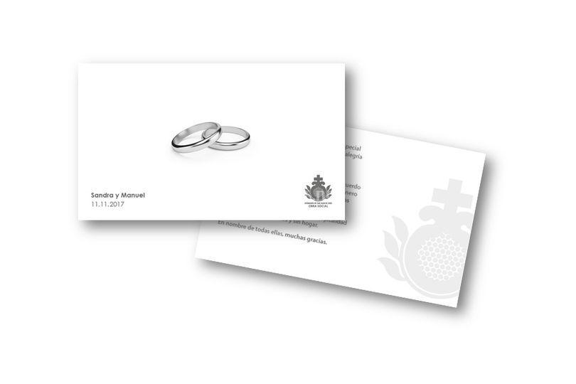 Tarjeta de boda, detalle