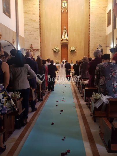 Llegada al altar