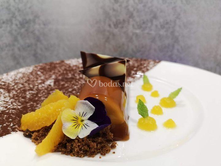 Mousse de Caramelo y Chocolate