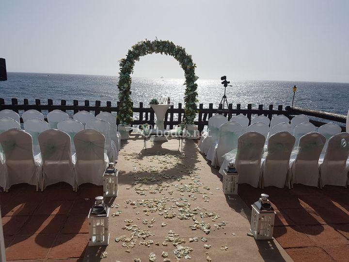 Ceremonia en balcón